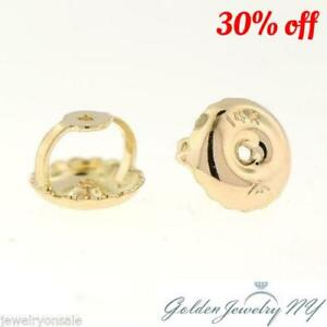 10K Yellow Gold Replacement Earring Backs