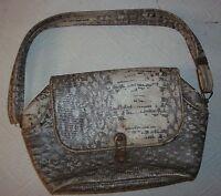 alte Damenhandtasche-Tasche-Handtasche-Schlangen Optik um 1920