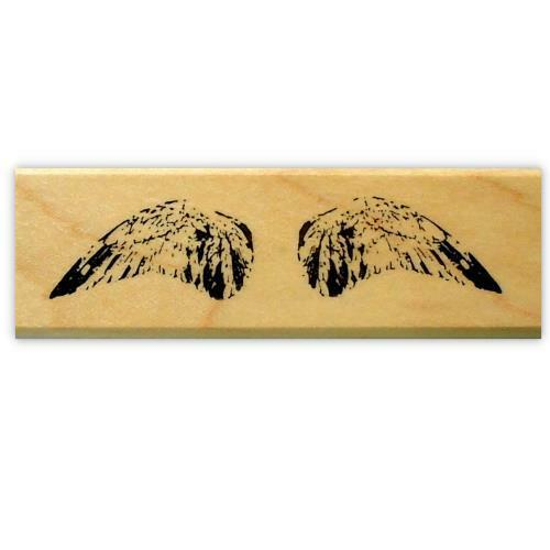 WINGS mounted rubber stamp, collage element, bird, angel #15