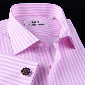 Lime Green Herringbone Formal Business Dress Shirt 100/% Egyptian Cotton Boss XL