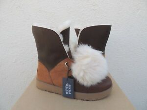 8e4bf5c7466 Details about UGG ISLEY LEATHER/ SHEEPSKIN WATER-PROOF WINTER POM POM  BOOTS, US 9.5/ 40.5 ~NIB
