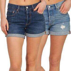 Levi-s-Damen-Jeans-Shorts-Damenhose-Hotpants-kurze-Hose-Bermuda-Denim-501-29961