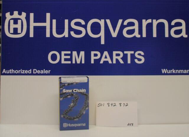"Genuine OEM Husqvarna 501842872 20"" 3/8 .058 72 DL H48X Saw Chain Loop"