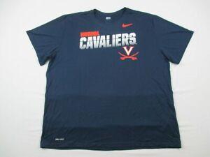 Virginia Cavaliers Nike Short Sleeve Shirt Men's Navy Dri-Fit Used 3XL