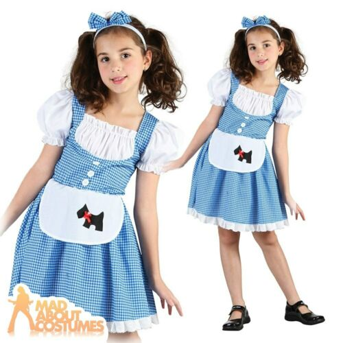Girls Dorothy Costume Kids Oz Fairytale Fancy Dress Outfit Childs Book Week Day