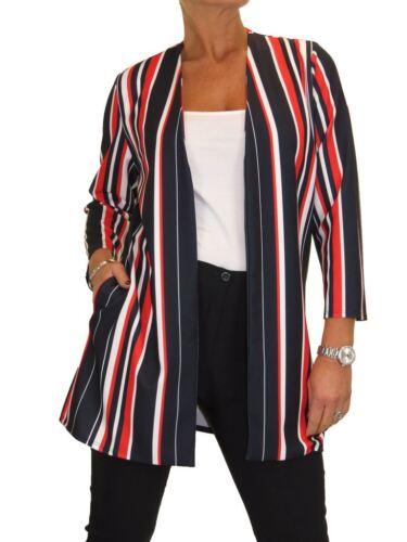 Stripe lichtgewicht Multi lange jas Open 20 10 Soft Ice Womens voor qSw6WB8