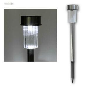 Détails sur LED Lampe Solaire / Solar-Leuchten, Luminaires de Jardin Inox,  Mini-Wegeleuchten