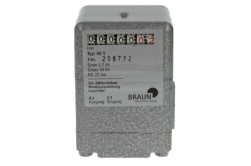 Braun Ölzähler Ölmengenzähler HZ5 mit Rollenzählwerk