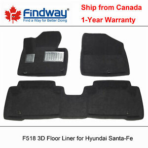 Black All Weather 3d Car Floor Mats Liners For 2014 2019