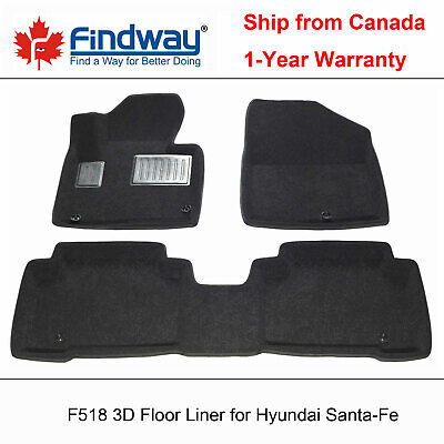 Black All Weather 3d Car Floor Mats Liners For 2014 2019 Hyundai