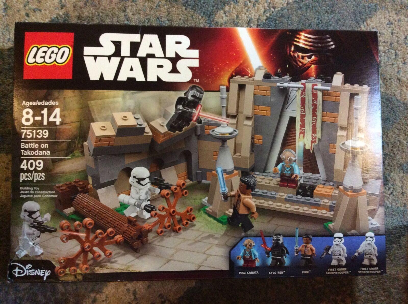 New Lego Star Wars battle on Takodana Set 75139 Sealed Damaged Box