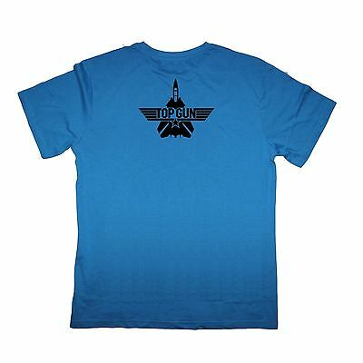 Top Gun On Front Maverick On Back Double Sided Adult T Shirt Great Movie