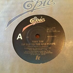 TINY-TIM-TIP-TOE-TO-THE-GAS-PUMPS-1979-Australian-Epic-7-034-RARE-NON-PROMO