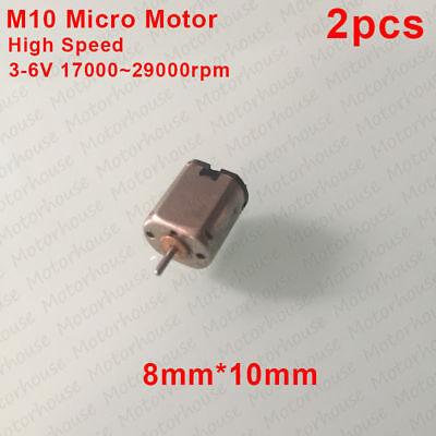 Mini 8mm*10mm Micro Dual Shaft M10 Motor 3V-5V 3.7V 10000RPM High Speed Strong