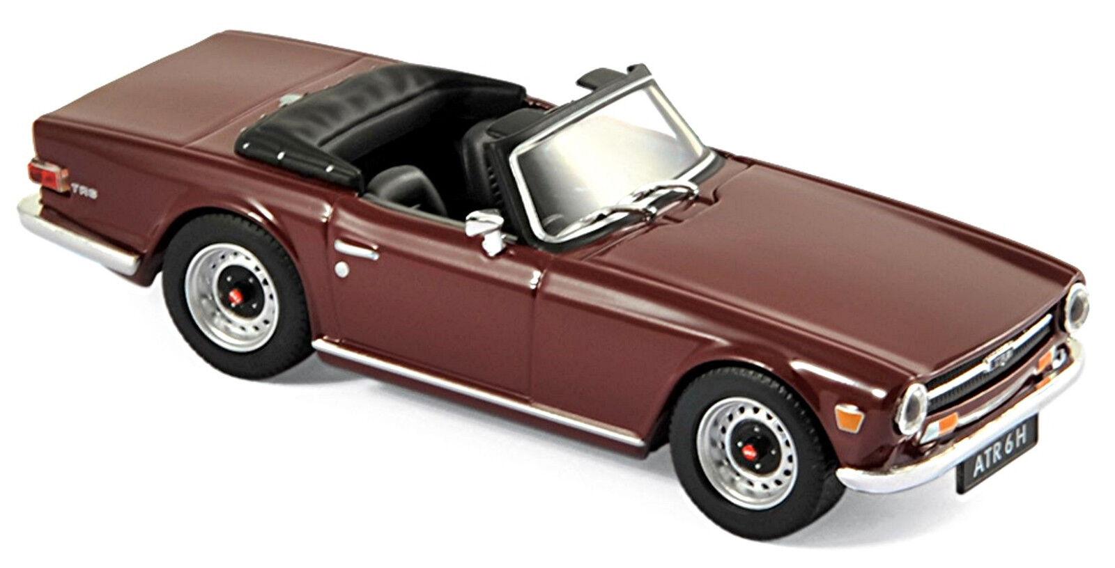 Triumph tr6 roadster roadster roadster 1968-76 damson rojo rojo1 43 norev b47a1f