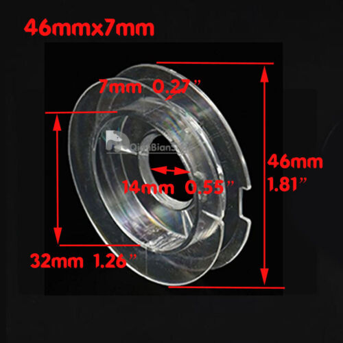 Empty Plastic Wire Spool Bobbin Sewing Thread Round Ends Cord Ribbon Clear QQB1
