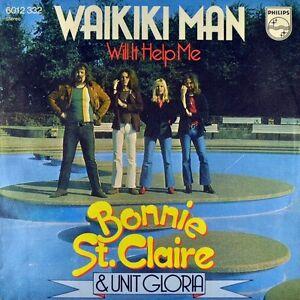 7-034-BONNIE-ST-CLAIRE-amp-UNIT-GLORIA-Waikiki-Man-PHILIPS-Dutch-Glam-Rock-orig-1974