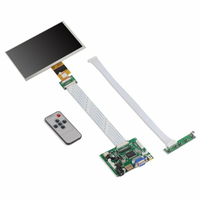 7 Inch High Resolution 1024x600 Raspberry Pi LCD Display Screen Monitor VGA  HDMI