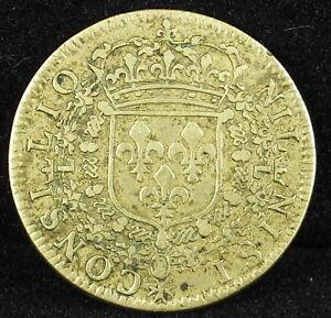 Jeton French Token Louis Xiv Xiiii Ca.1640 Nil Nisi Consilio Medal Avec Le Meilleur Service