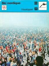 FICHE CARD: 1980 Vasaloppet Suède Course  de ski de fond SKI NORDIQUE 1970s