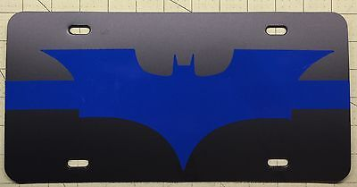 THIN BLUE LINE License Plate DARK KNIGHT BATMAN Police Sheriff SRT SWAT