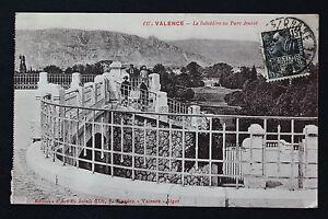 Tarjeta-Postal-Antigua-CPA-Animada-Valence-El-Pabellon-A-Parque-Jouvet