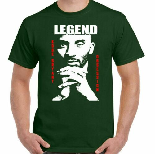 KOBE BRYANT T-SHIRT Mens Legend Unisex Tee Top Basketball Player