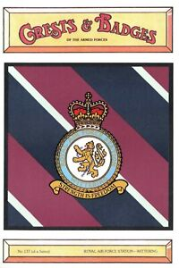 Postcard-RAF-Royal-Air-Force-Station-WITTERING-Crest-Badge-No-137-NEW