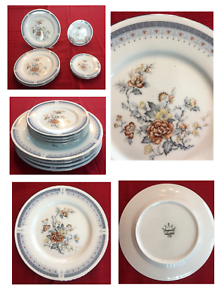 VINTAGE-Ranmaru-Fine-China-Dinnerware-IMPERIAL-GARDEN-8-Piece-Set-Peking-China