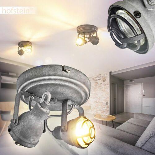 VINTAGE salotto sonno stanza luci grigio corridoio emettitore 2-Fiamma lampade soffitto