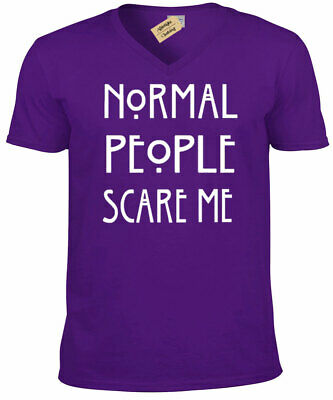 Normal People Scare Me Womens scoop neck T Shirt funny goth ladies rock emo top