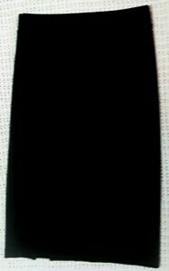 H&M BASIC BLACK BODYCON SKIRT PENCIL KNEE LENGTH STRETCHY SIZE S - NEW NO TAGS