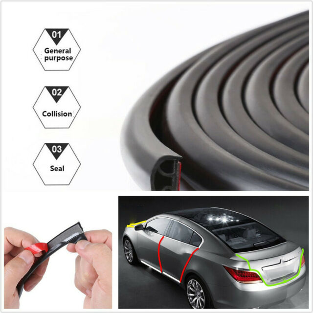 Push-on Weatherstrip Car Door Trunk Edge Rubber Protector Seal Strip 3M Rubber