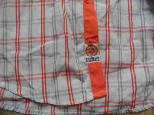 À Blanc Chemise Marshall Gris Belle Orange Zc517 Carreaux Sz Franklin New W L qxXwFtfBB