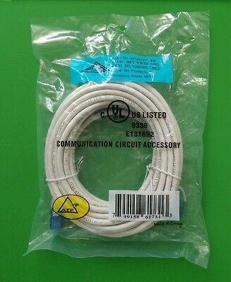 WHILE APT 10 FT CAT5E RJ45 Ethernet LAN Network Cable #AT1510EV
