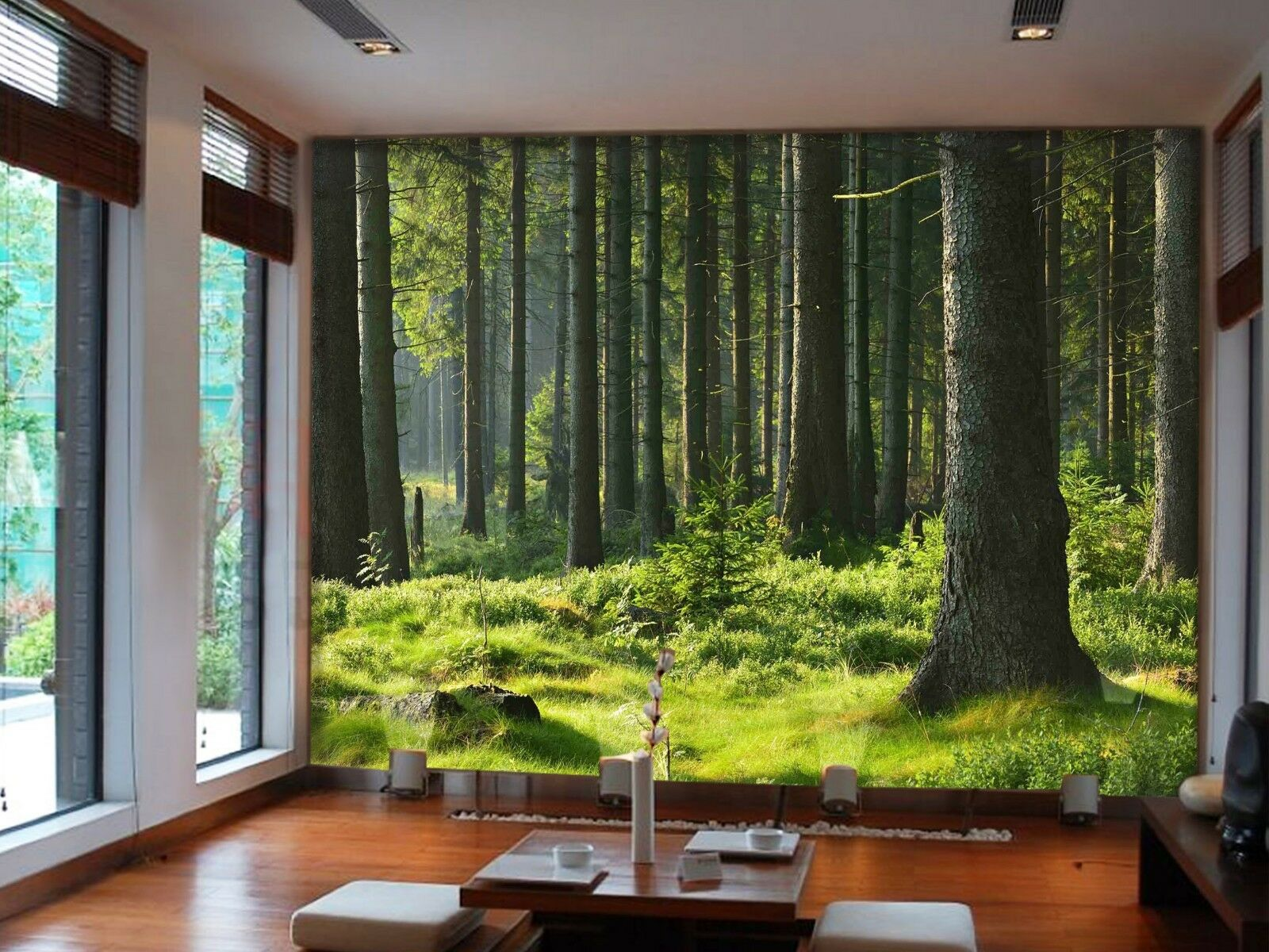 3D Forest Lawn 7143 Wallpaper Mural Wall Print Wall Wallpaper Murals US Lemon