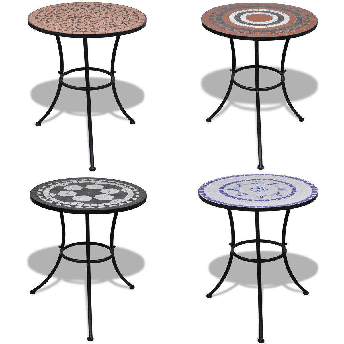 VidaXL Mesa Tipo Mosaico Cerámica Diámetro 60 cm Disponible Diferentes Colors