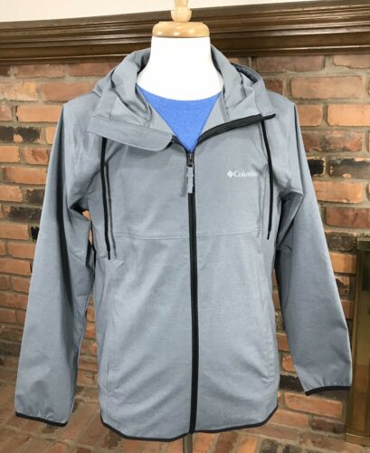 Columbia PINE ORCHARD Hooded Softshell Jacket Wind//Water Resistant ~ Graphite