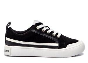 Calvin-Klein-Jeans-DODIE-SUEDE-R8525-Nero-Scarpa-Sportiva-Casual