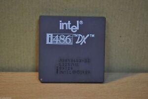 Intel i486 SX 33Mhz A80486SX-33 Ceramic GOLD BOTTOM CPU Processor TESTED FS!