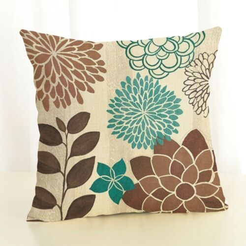"""18/""""Flower Printi  Pillow Case Cover Sofa Couch Cushion Cover Home Decor Gift"""