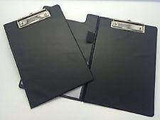 A5 Black Foldover, Clipboard - with Pen Holder Clip, Board
