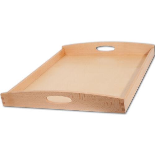 Tablett Serviertablett Küchentablett Buche 50 x 40 x 6 cm natur ab 15,99 €