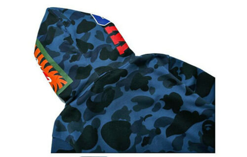 Men/'s Bape A Bathing Ape Full Zip Shark Head Camo Hoodie Coat Sweatshirt Jacket~