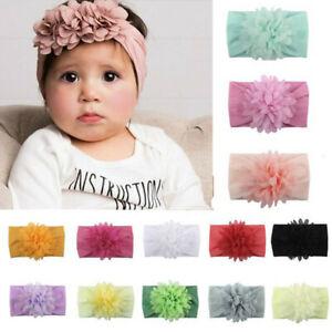Haarschmuck 10PCS Girls Baby Infant Flower Headwear Chiffon Bow Toddler Hair Accessories New