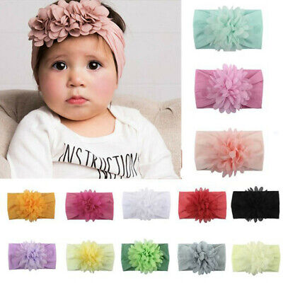 Baby Kids Girls Infant Headband Bow Flower Hair Band Accessories Headwear 6color