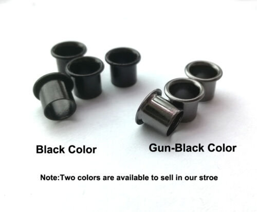 "6.5mm 1//4/"" Pure copper Black Gun-black Rivet Eyelets for DIY Kydex Holster"