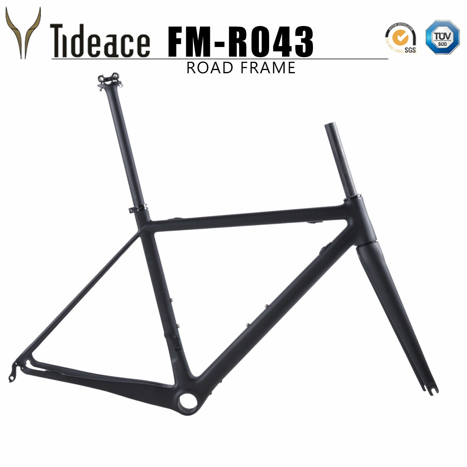 Super Light Carbon Fiber T800 Aero Road Racing Bike Frame BB Right 48515456cm