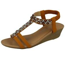 dde889cbe93412 item 3 Ladies Faux Leather Aztec Jewel T Bar Open Toe Sling Back Wedge  Summer Sandals -Ladies Faux Leather Aztec Jewel T Bar Open Toe Sling Back  Wedge ...