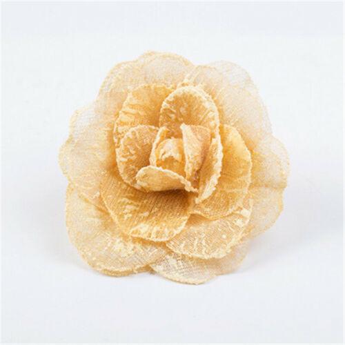 1Pcs Window Magnetic Flower Curtain Tieback Clip-on Rose Flower Tie Holder Decor